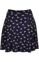 Topshop Jersey Skater Skirt - Lyst