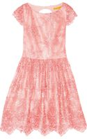 Alice + Olivia Zenden Embroidered Lace Mini Dress - Lyst