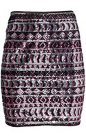H&M Sequined Skirt - Lyst