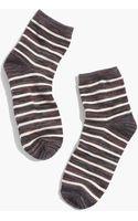 Madewell Marled Stripe Ankle Socks - Lyst