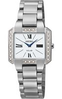 Seiko Womens Solar Diamond Accent Stainless Steel Bracelet Watch 27mm Sup237 - Lyst