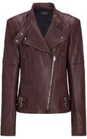 Joseph Bubble Leather Biker Jacket - Lyst