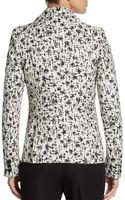 Alice + Olivia Elyse Abstract print Tweed Blazer - Lyst