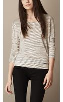 Burberry Polka Dot Linen Sweater - Lyst