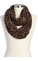 Old Navy Leopardprint Gauze Scarves - Lyst