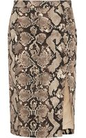 Altuzarra For Target Python Print Stretch Cotton Twill Pencil Skirt - Lyst