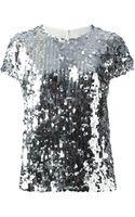 Dolce & Gabbana Sequin Top - Lyst
