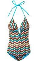 Missoni Mare Zigzag Knit Swimsuit - Lyst