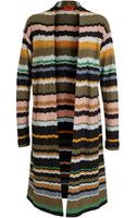 Missoni Striped Woolblend Cardigan - Lyst