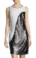 Marc New York By Andrew Marc Twotone Allover Sequin Dress - Lyst