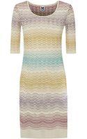 M Missoni Ripple Knit Bodycon Dress - Lyst
