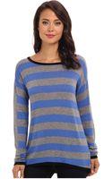 C&c California Ls Striped Sweater - Lyst