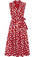 Eliza J Spotted Shirt Dress - Lyst