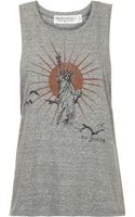 Topshop Statue Of Liberty Tank by Project Social Tee  Grey - Lyst