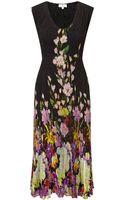 Cc Orchid Print Crinkle Dress - Lyst