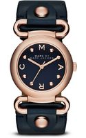 Marc By Marc Jacobs Gold Tone Stainless Steel  Leather Studded Strap Watch - Lyst
