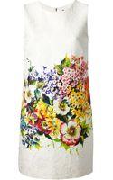 Dolce & Gabbana Textured Shift Dress - Lyst