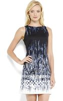 Vince Camuto Printed Ponte Shift Dress - Lyst
