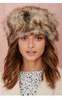 Nasty Gal Faux Fur Pillbox Hat - Heather Brown - Lyst