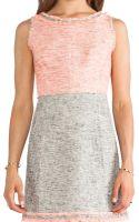 Milly Raw Edge Dress - Lyst