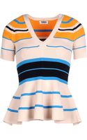 Sonia By Sonia Rykiel Short Sleeve Sweater - Lyst