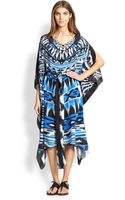 Gottex Swim Anguilla Printed Silk Caftan - Lyst