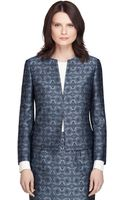 Brooks Brothers Jacquard Cropped Jacket - Lyst