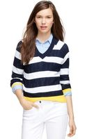 Brooks Brothers Supima Cotton Stripe Sweater - Lyst
