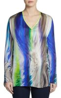 Elie Tahari Kendall Printed Silk Tunic - Lyst