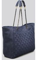 Tory Burch Tote - Fleming Denim - Lyst