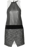 Tibi Paneled Cotton-blend Mini Dress - Lyst