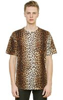 Moschino Oversized Leopard Printed Cotton Tshirt - Lyst