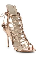 Sophia Webster Lacey Metallic Leather Strappy Sandals - Lyst