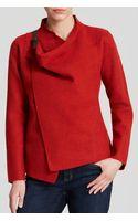 Eileen Fisher Drape Front Wool Jacket - Lyst