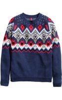 H&M Jacquard-knit Jumper - Lyst
