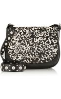 Michael by Michael Kors Heyes Printed Calf Hair and Leather Shoulder Bag - Lyst