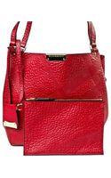 Burberry Red Leather Shoulder Bag - Lyst