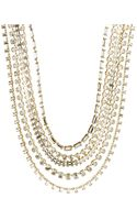 Kate Spade Chain Necklace with Stone Accents - Lyst