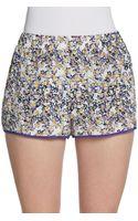 Pjk Patterson J. Kincaid Floral Silk Print Shorts - Lyst
