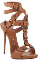 Giuseppe Zanotti T-Strap Ankle Wrap Sandal - Lyst