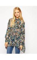 Asos Oversize Seam Detail Kimono Blouse in Winter Paisley Print - Lyst