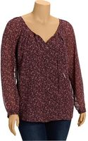 Old Navy Plus Patterned Chiffon Tops - Lyst