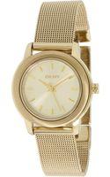 DKNY Threehand Steel Mesh Watch - Lyst