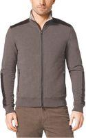 Michael Kors Leathertrim Stretchcotton Jacket - Lyst