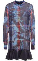 McQ by Alexander McQueen Silk Ruffle Shirt Dress - Lyst