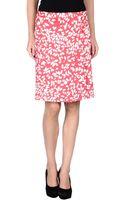 Armani Knee Length Skirt - Lyst