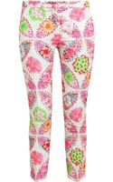 MSGM Floral Woven Tailored Trousers - Lyst