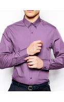 Asos Smart Shirt in Long Sleeve with Button Down Collar - Lyst