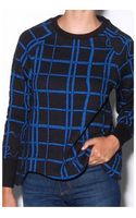 Kenzo Periwinkle Check Sweatshirt - Lyst