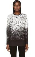 Helmut Lang Black and White Scarp Print Sweatshirt - Lyst